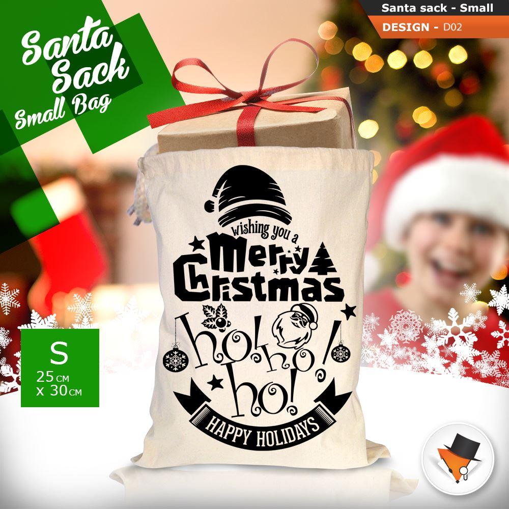 GRANDE-Babbo-Natale-Sacco-Babbo-Natale-Borsa-per-i-REGALI-DONI-NATALE-Calze-Di-Cotone miniatura 8