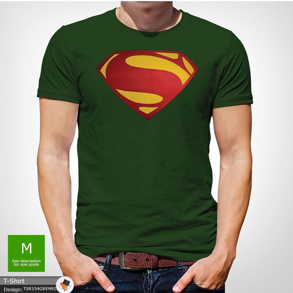 Da-Uomo-Superman-T-Shirt-Classic-Fit-DC-Comics-XS-S-M-L-XL-XXL-NEW-RED miniatura 13