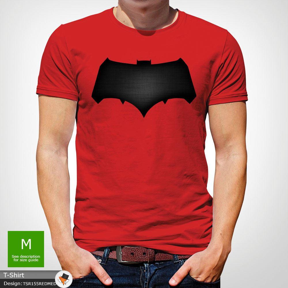 DC Comics Men s Batman v Superman Logo Print T-Shirt Red  a8665be832