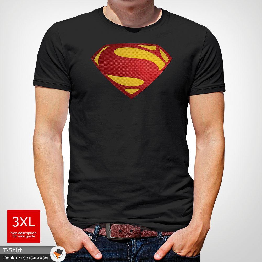 Da-Uomo-Superman-T-Shirt-Classic-Fit-DC-Comics-XS-S-M-L-XL-XXL-NEW-RED miniatura 8