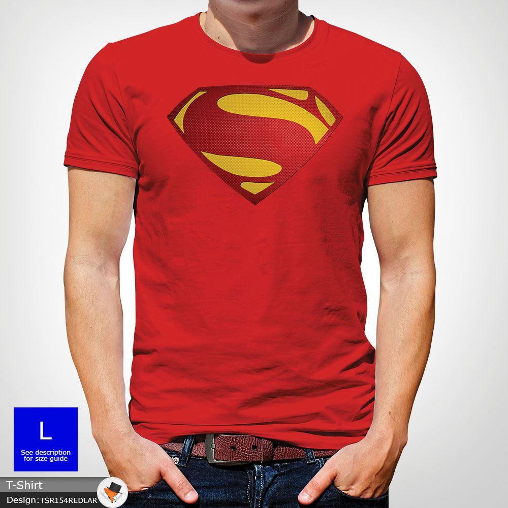 Da-Uomo-Superman-T-Shirt-Classic-Fit-DC-Comics-XS-S-M-L-XL-XXL-NEW-RED miniatura 36