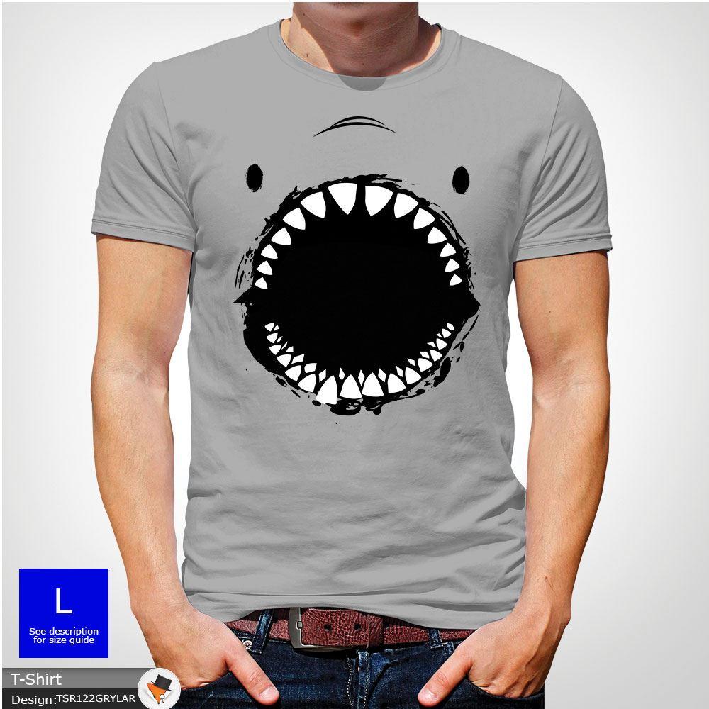 Shark face t shirt tshirt mens christmas birthday gift fishing XMAS ... ae883a0943a