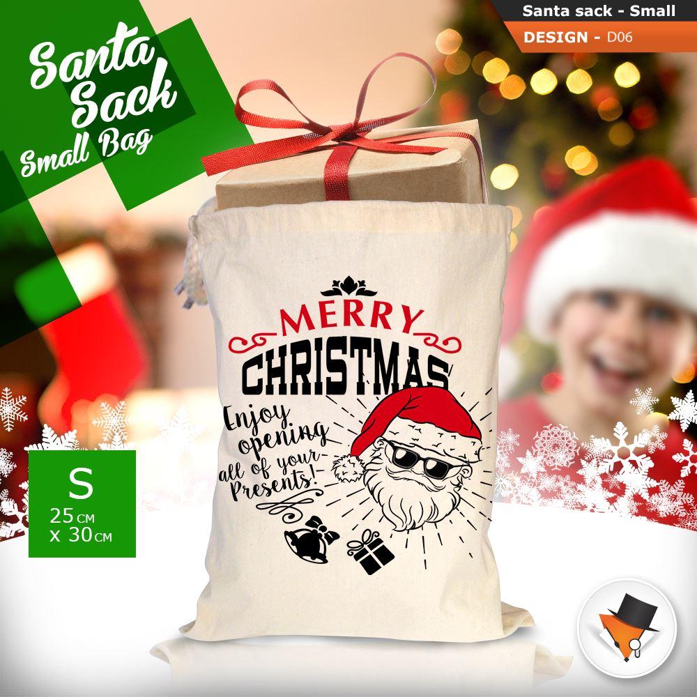 GRANDE-Babbo-Natale-Sacco-Babbo-Natale-Borsa-per-i-REGALI-DONI-NATALE-Calze-Di-Cotone miniatura 25