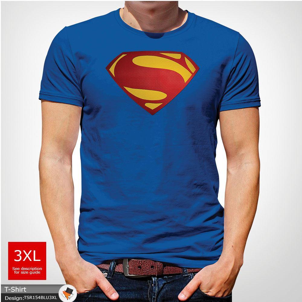 Da-Uomo-Superman-T-Shirt-Classic-Fit-DC-Comics-XS-S-M-L-XL-XXL-NEW-RED miniatura 38