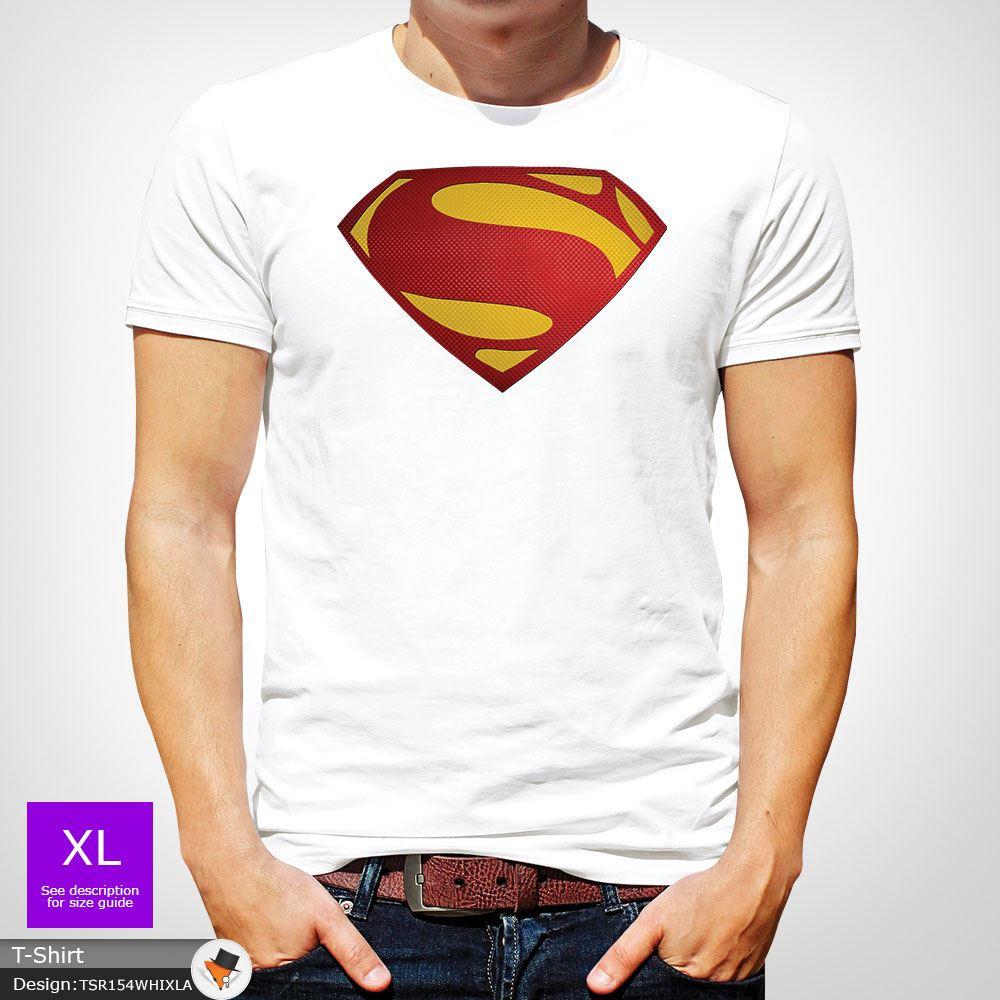 Da-Uomo-Superman-T-Shirt-Classic-Fit-DC-Comics-XS-S-M-L-XL-XXL-NEW-RED miniatura 48