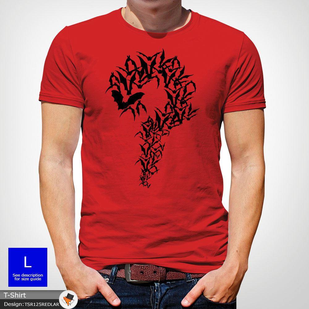 Batman Riddler Question Mark Coton T-shirt hommes Noël anniversaire cadeau rouge