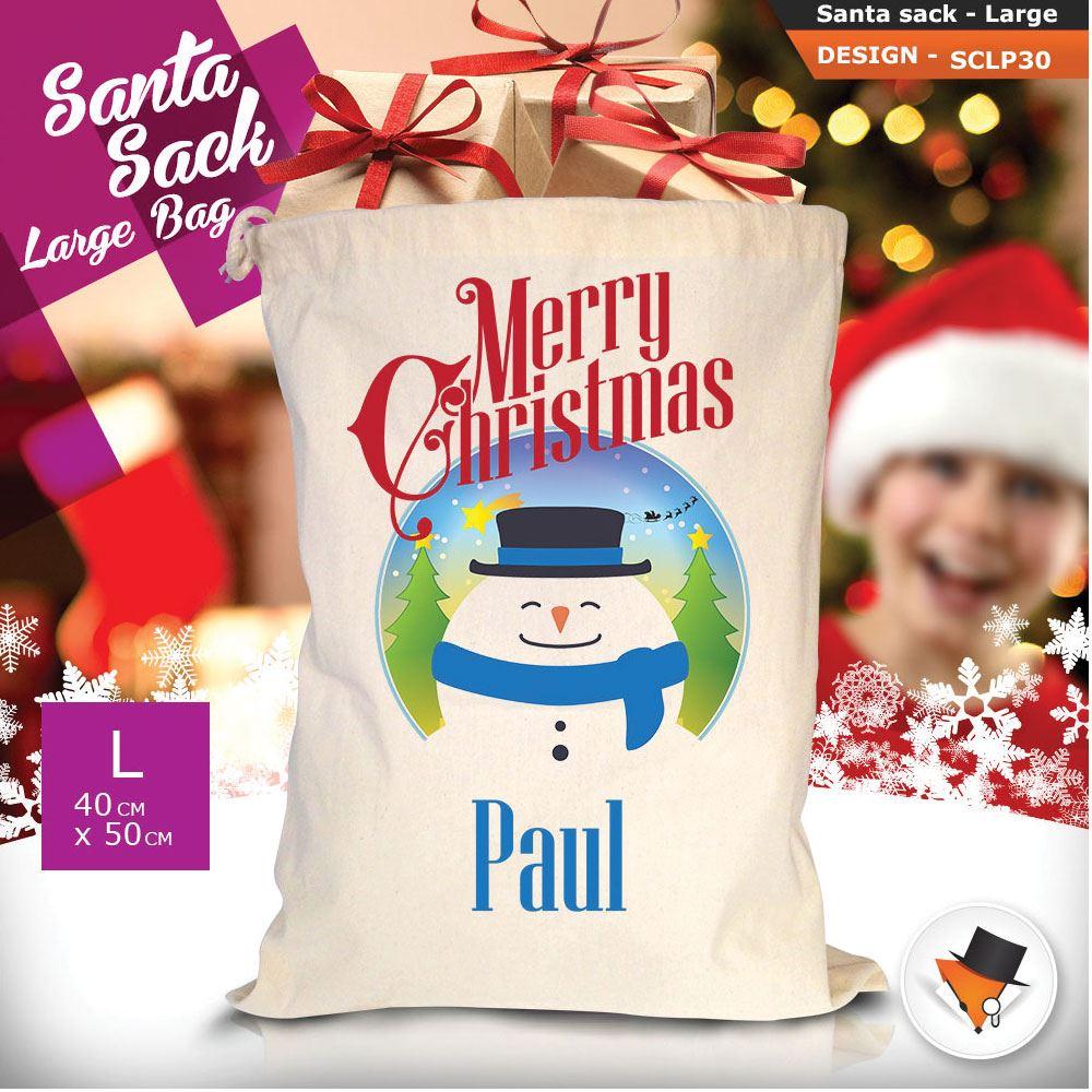 Personalizzato-ragazza-Renna-Natale-Xmas-Babbo-Natale-sacco-per-regalo-calza miniatura 77