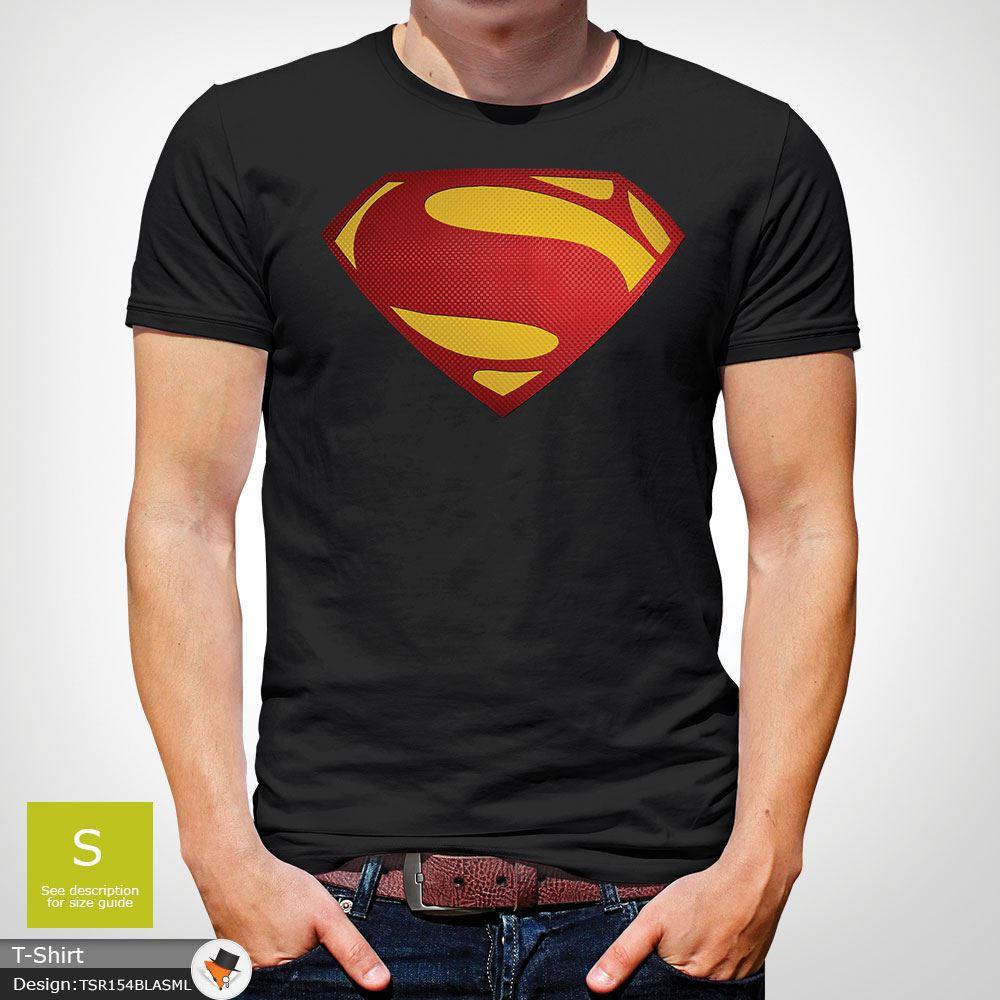 Da-Uomo-Superman-T-Shirt-Classic-Fit-DC-Comics-XS-S-M-L-XL-XXL-NEW-RED miniatura 9