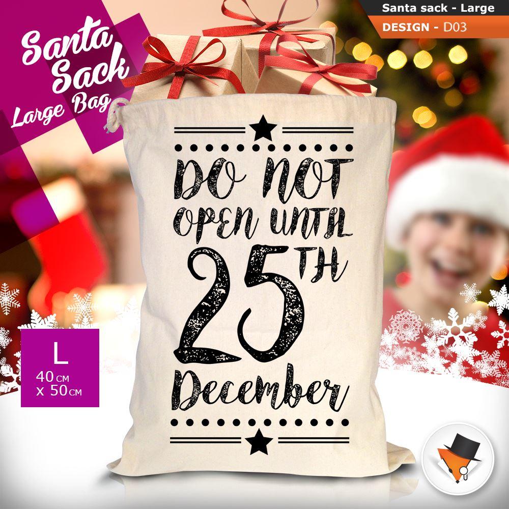 GRANDE-Babbo-Natale-Sacco-Babbo-Natale-Borsa-per-i-REGALI-DONI-NATALE-Calze-Di-Cotone miniatura 11