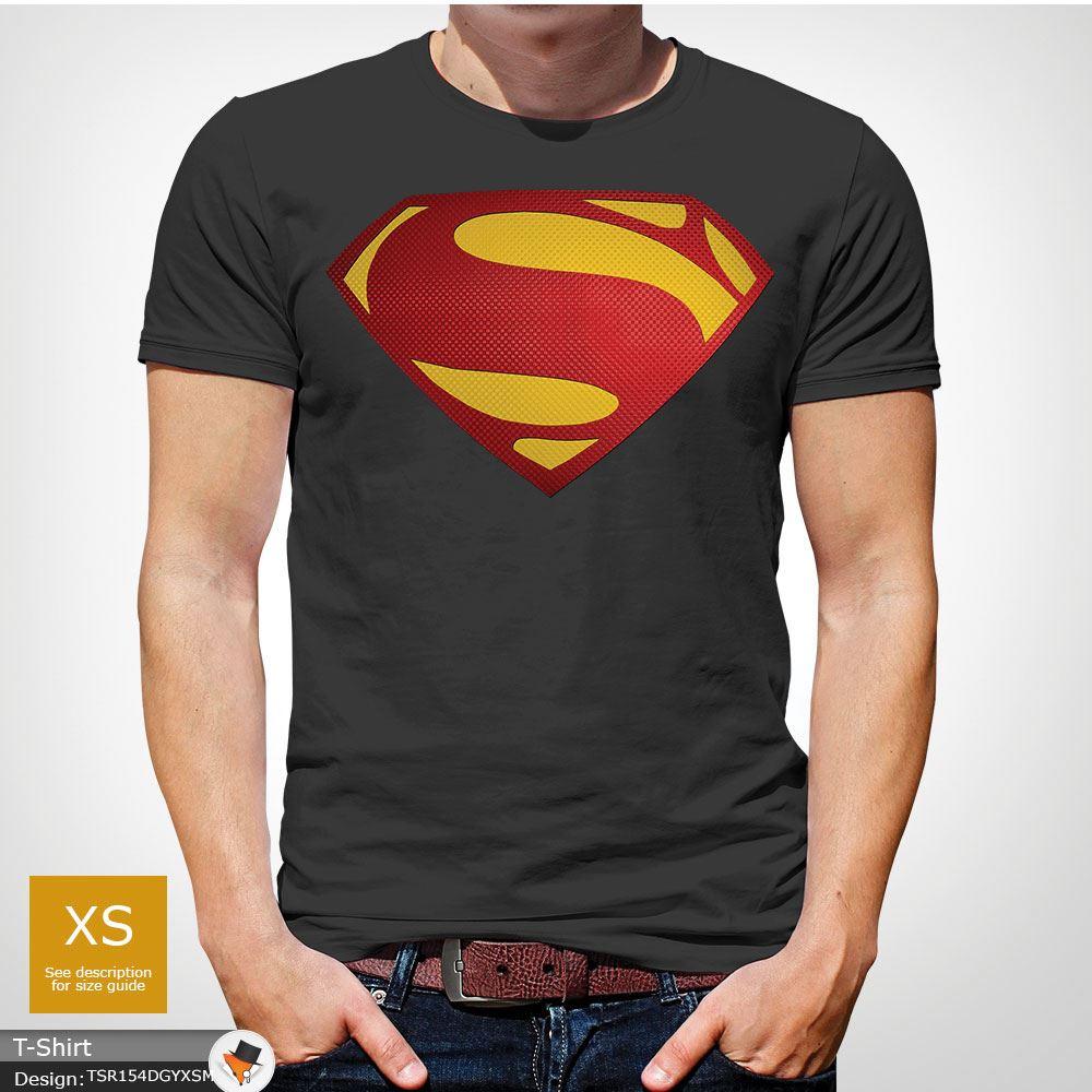 Da-Uomo-Superman-T-Shirt-Classic-Fit-DC-Comics-XS-S-M-L-XL-XXL-NEW-RED miniatura 21