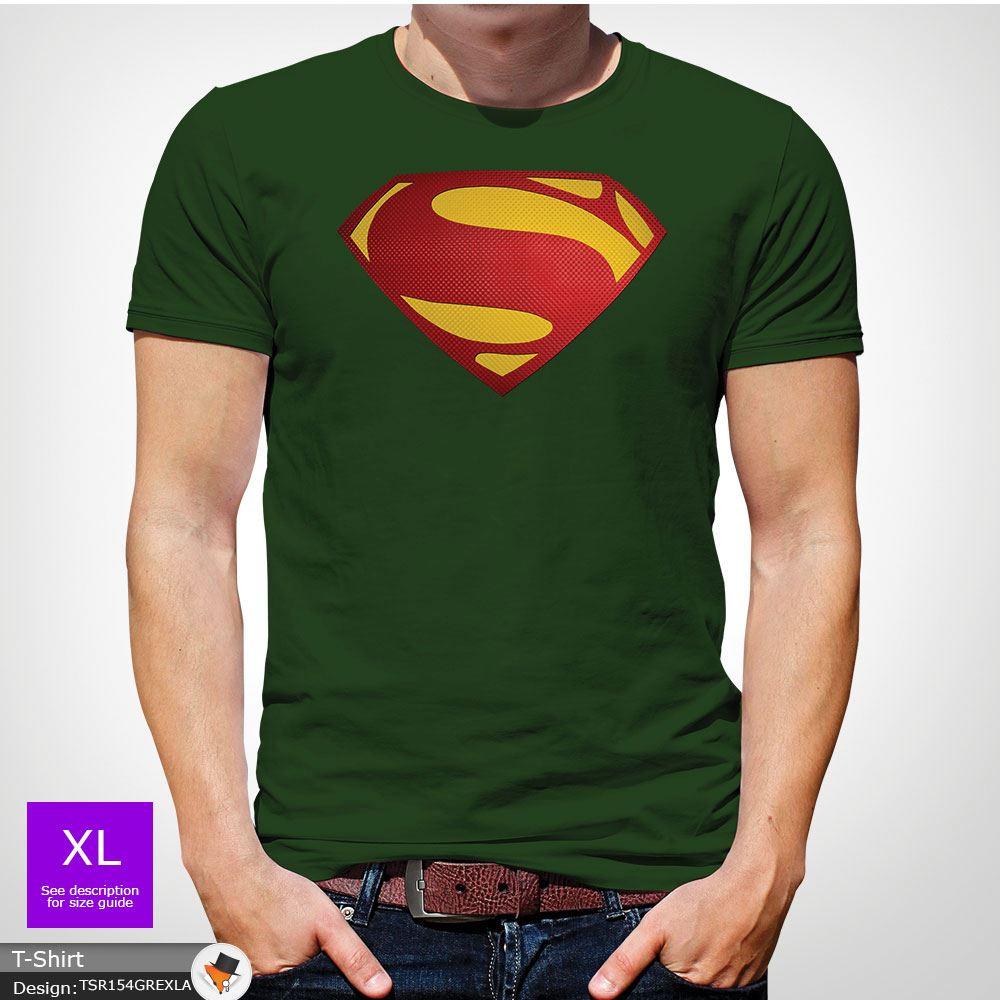 Da-Uomo-Superman-T-Shirt-Classic-Fit-DC-Comics-XS-S-M-L-XL-XXL-NEW-RED miniatura 12
