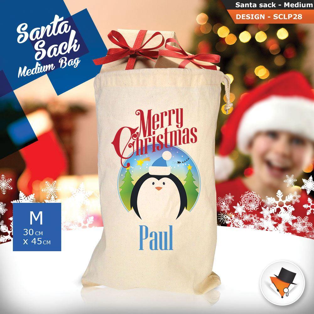 Personalizzato-ragazza-Renna-Natale-Xmas-Babbo-Natale-sacco-per-regalo-calza miniatura 68