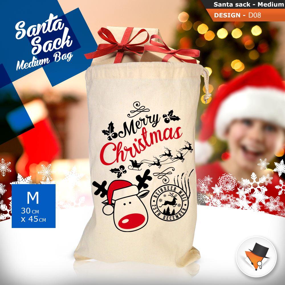 GRANDE-Babbo-Natale-Sacco-Babbo-Natale-Borsa-per-i-REGALI-DONI-NATALE-Calze-Di-Cotone miniatura 32