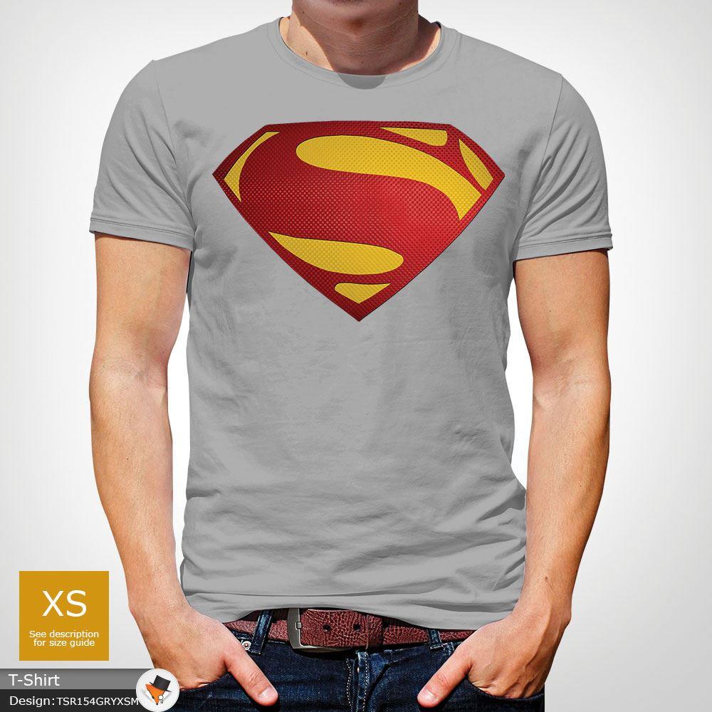 Da-Uomo-Superman-T-Shirt-Classic-Fit-DC-Comics-XS-S-M-L-XL-XXL-NEW-RED miniatura 26