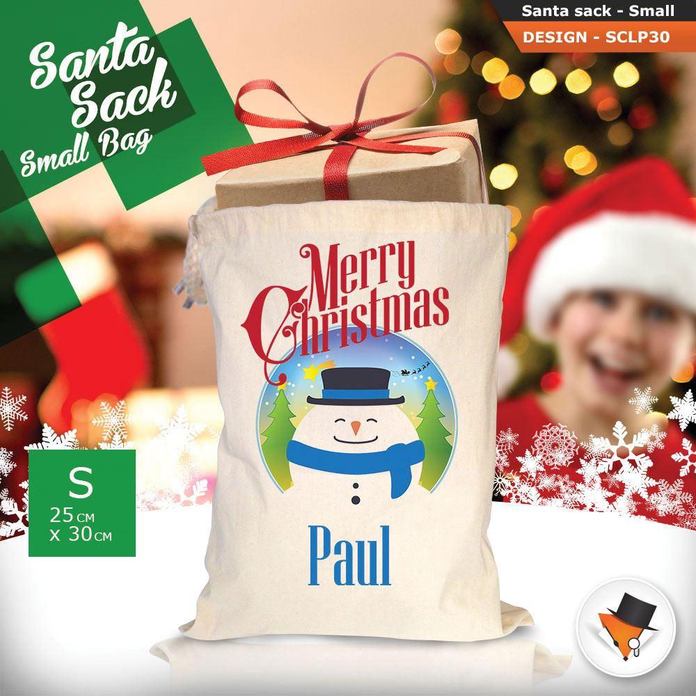 Personalizzato-ragazza-Renna-Natale-Xmas-Babbo-Natale-sacco-per-regalo-calza miniatura 76