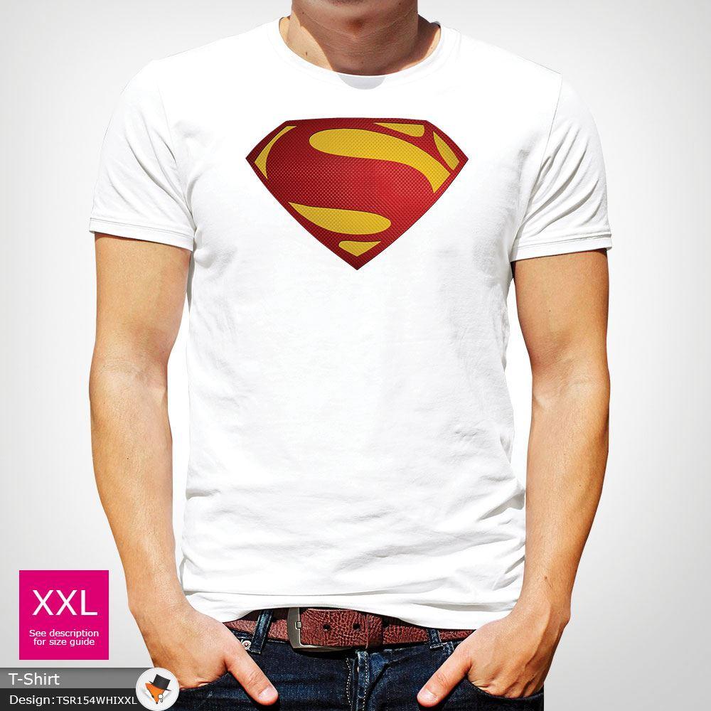 Da-Uomo-Superman-T-Shirt-Classic-Fit-DC-Comics-XS-S-M-L-XL-XXL-NEW-RED miniatura 45