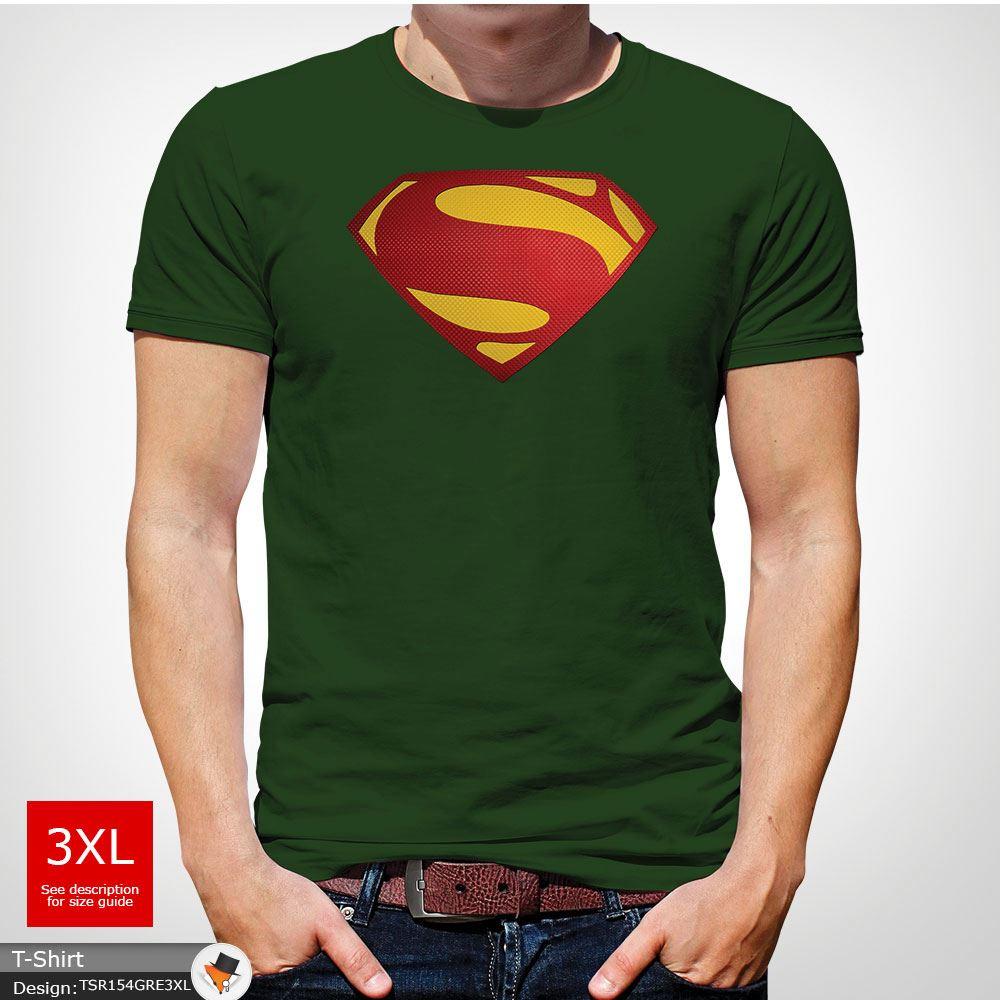 Da-Uomo-Superman-T-Shirt-Classic-Fit-DC-Comics-XS-S-M-L-XL-XXL-NEW-RED miniatura 16