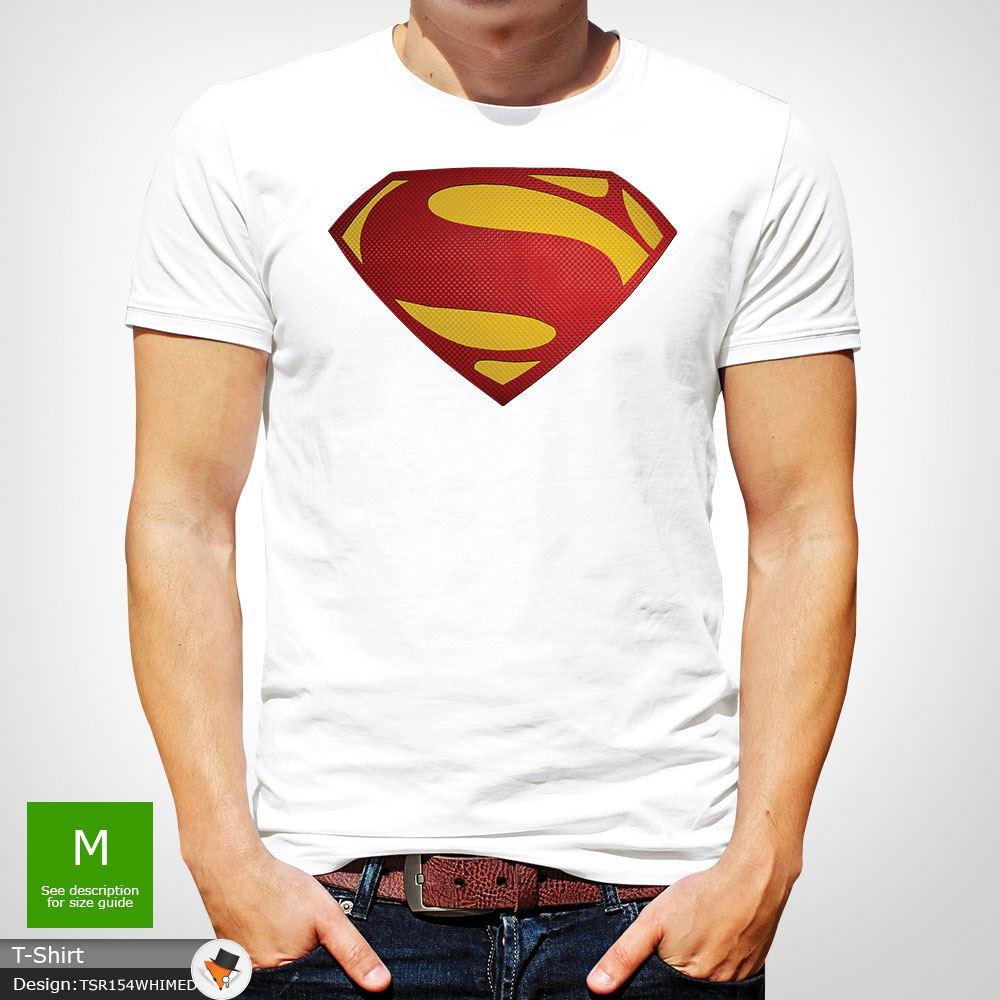 Da-Uomo-Superman-T-Shirt-Classic-Fit-DC-Comics-XS-S-M-L-XL-XXL-NEW-RED miniatura 50