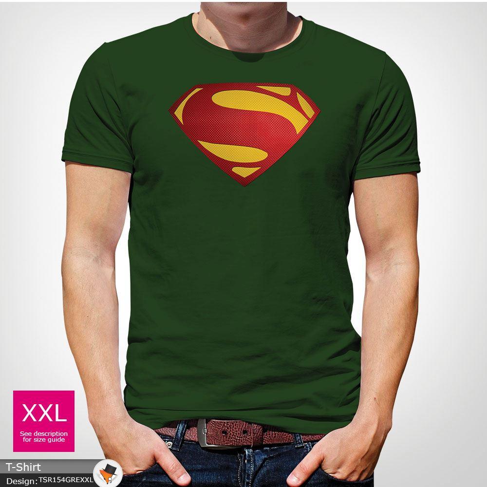 Da-Uomo-Superman-T-Shirt-Classic-Fit-DC-Comics-XS-S-M-L-XL-XXL-NEW-RED miniatura 15
