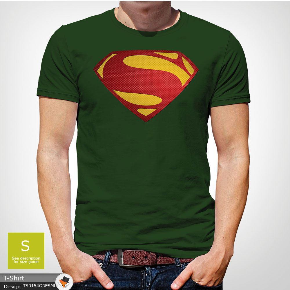 Da-Uomo-Superman-T-Shirt-Classic-Fit-DC-Comics-XS-S-M-L-XL-XXL-NEW-RED miniatura 14