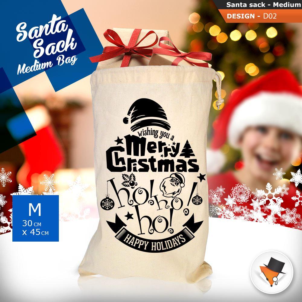 GRANDE-Babbo-Natale-Sacco-Babbo-Natale-Borsa-per-i-REGALI-DONI-NATALE-Calze-Di-Cotone miniatura 7