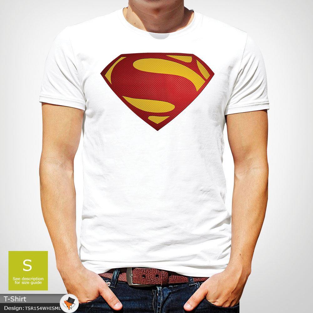 Da-Uomo-Superman-T-Shirt-Classic-Fit-DC-Comics-XS-S-M-L-XL-XXL-NEW-RED miniatura 47