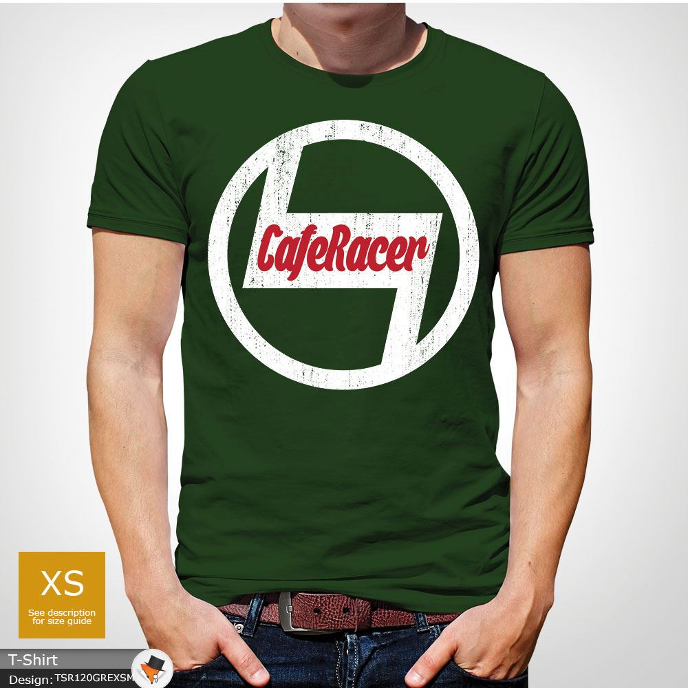Caf Racer Biker T Shirt Mens Christmas X