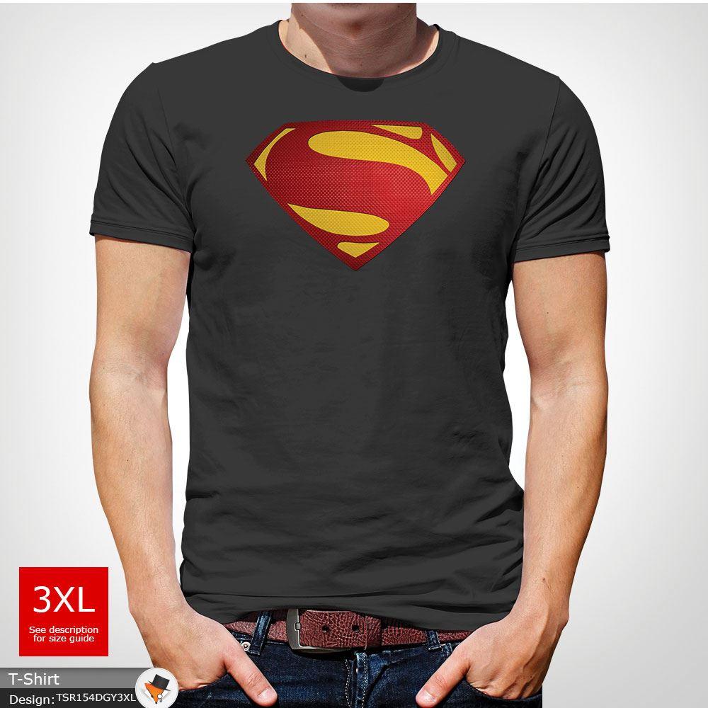 Da-Uomo-Superman-T-Shirt-Classic-Fit-DC-Comics-XS-S-M-L-XL-XXL-NEW-RED miniatura 20
