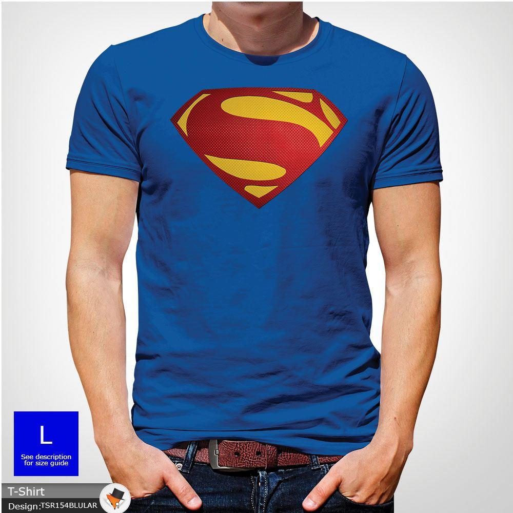Da-Uomo-Superman-T-Shirt-Classic-Fit-DC-Comics-XS-S-M-L-XL-XXL-NEW-RED miniatura 40