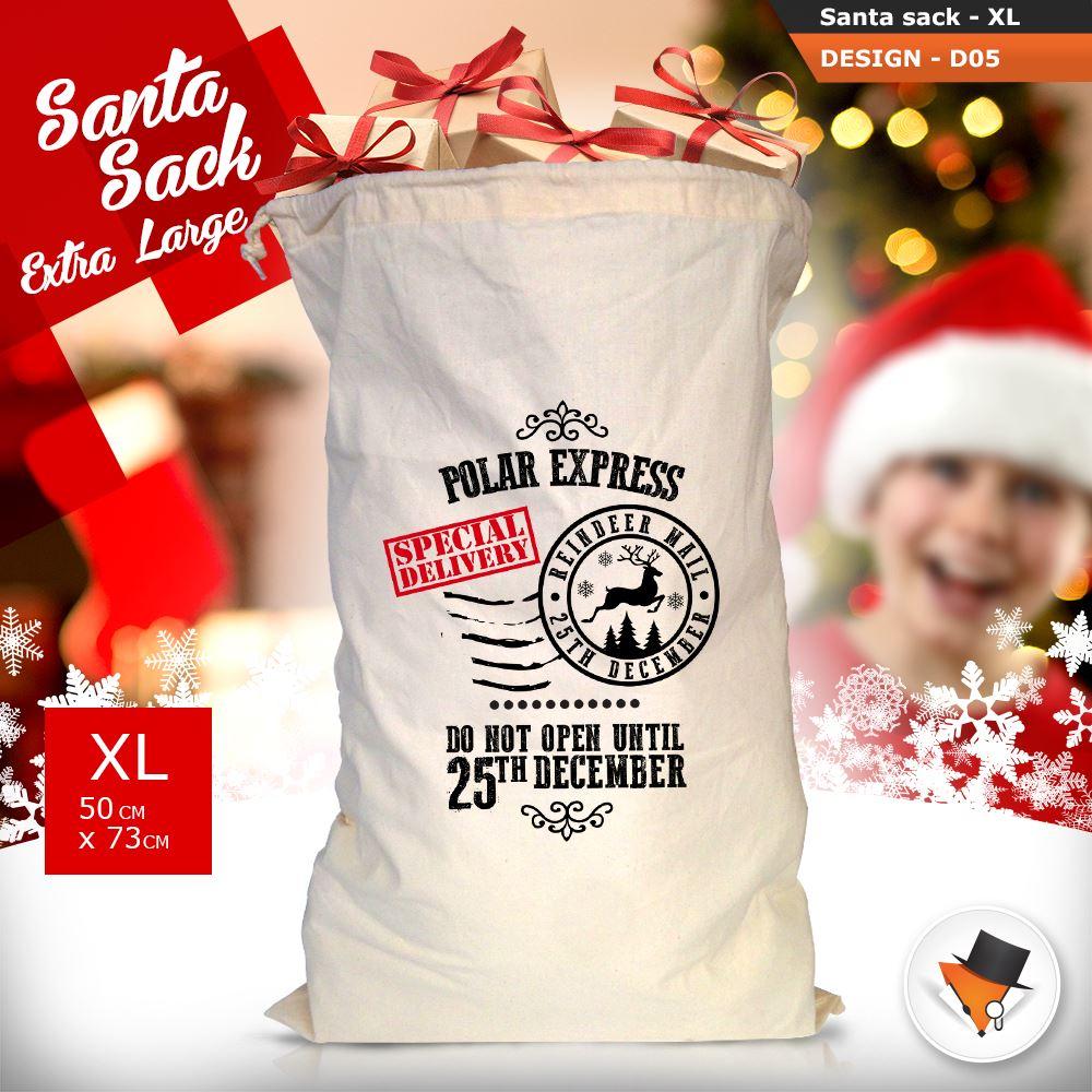 GRANDE-Babbo-Natale-Sacco-Babbo-Natale-Borsa-per-i-REGALI-DONI-NATALE-Calze-Di-Cotone miniatura 20