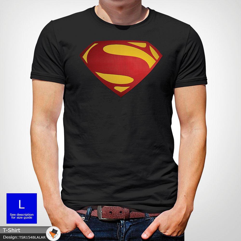 Da-Uomo-Superman-T-Shirt-Classic-Fit-DC-Comics-XS-S-M-L-XL-XXL-NEW-RED miniatura 7