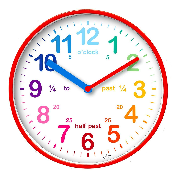 Acctim Wickford Kids Wall Clock Red 20cm Dial 22524 Ebay