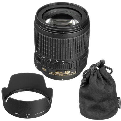 Nikon AF-S DX NIKKOR 18-105mm f//3.5-5.6G ED VR Pro Digital Lens Hood Snap-on