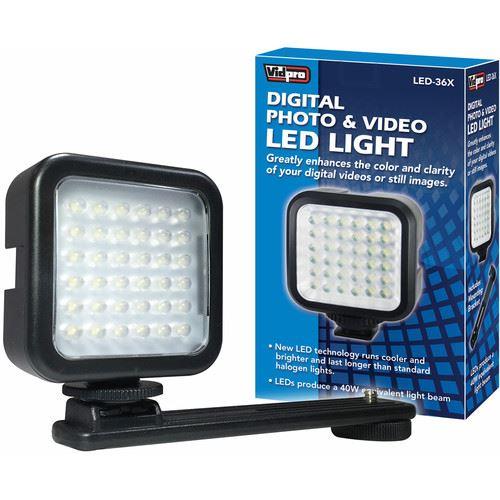 Details about Vidpro LED-36X Photo & Video On-Camera LED Light