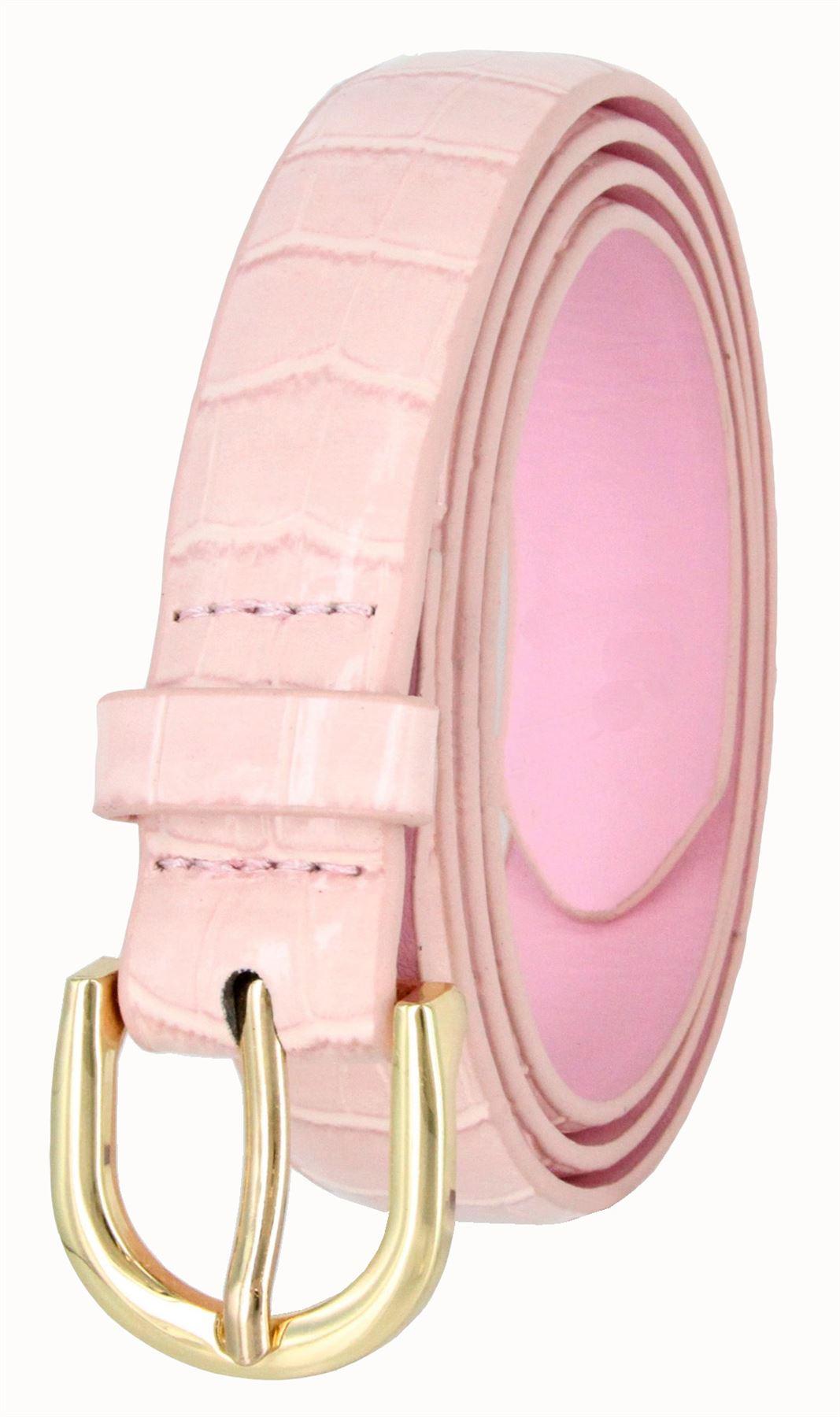 Women-039-s-Skinny-Thin-Alligator-Embossed-Genuine-Leather-Belt-1-034-25mm-Wide thumbnail 16