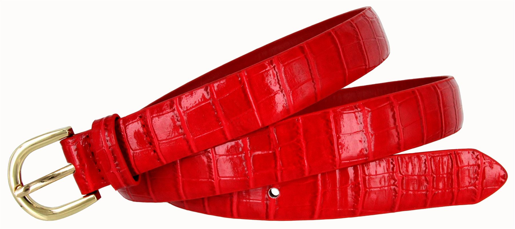 Women-039-s-Skinny-Thin-Alligator-Embossed-Genuine-Leather-Belt-1-034-25mm-Wide thumbnail 18