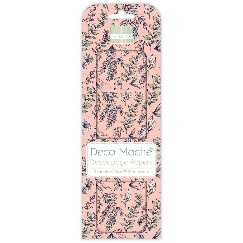 DECO MACHE PAPER FIRST EDITION STAG 3 SHEETS OF DECOUPAGE