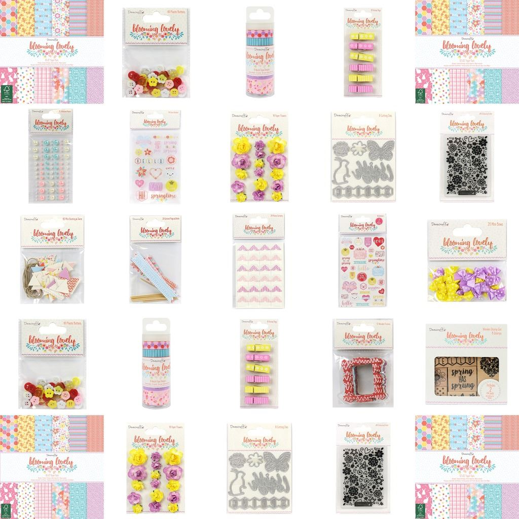 Dovecraft Blooming Lovely Easter//Spring Paper Craft Collection Emboss Folder