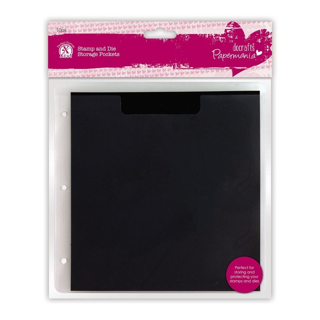 DOCRAFTS PAPERMANIA STAMP AND CUTTING DIE STORAGE D-RING FOLDER NEW 24X24cm