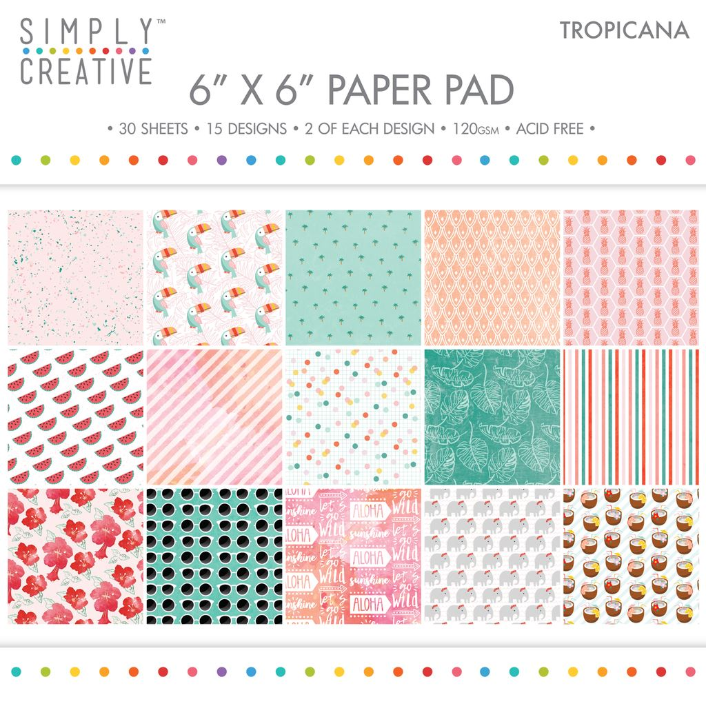 "Premium Craft Paperstock Simply Creative 6x6/"" Floral Luxe Scrapbook Paper"