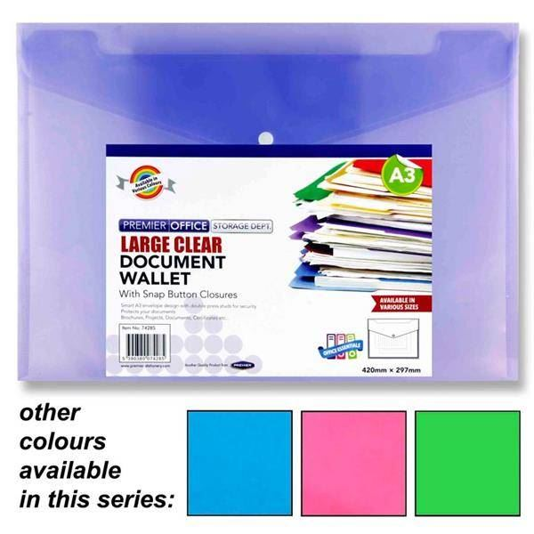 eco-eco A4 95/% Recycled Clear Index Tabbed Premier Punched Pockets 1 x 12