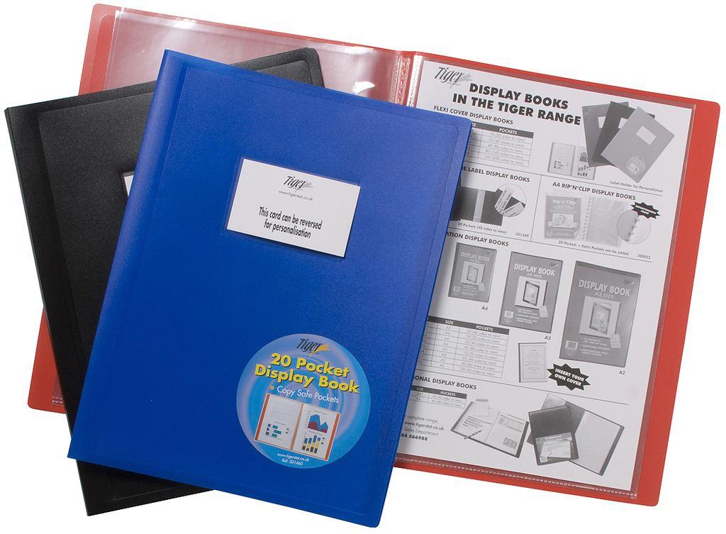 4 x A3 Premium Black Cover Display Book Presentation Folder Portfolio 10 Pkt
