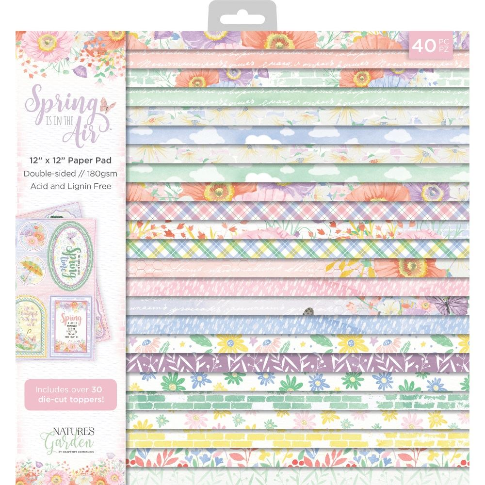 """Love in Bloom 12 Sheets of 12/"""" x 12/"""" Scrapbook//Backing Papers Acid /& Lignin Free"""