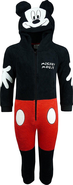 f5f48b86c9ba Mickey Mouse Fleece Onesie Pyjamas Nightwear Hooded Sleepsuit Disney ...