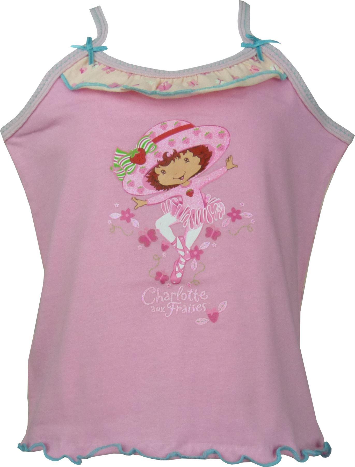 Ninas-Dora-Peppa-Pig-Hello-Kitty-Charlotte-aux-Fraises-manga-corta-camiseta