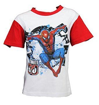 Garcons-Marvel-Spiderman-Ninja-Turtles-Bart-Simpsons-Gormiti-Ben10-T-shirt