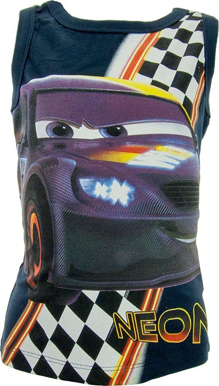 Garcons-Disney-Cars-Debardeur-T-shirt-sans-manches-Taille-3-a-8-ans