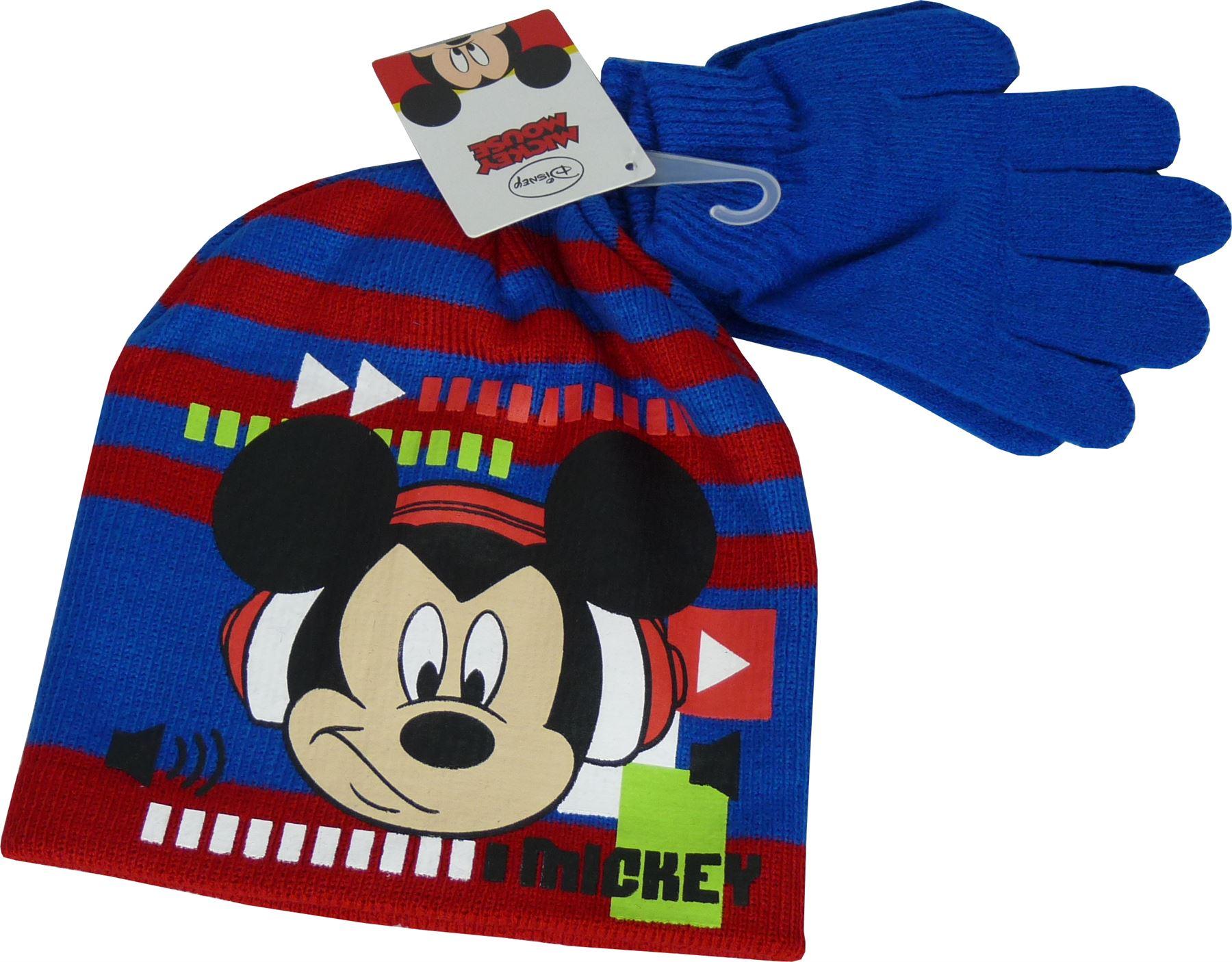 jungen disney mickey mouse winter 2 teiliges set m tze. Black Bedroom Furniture Sets. Home Design Ideas