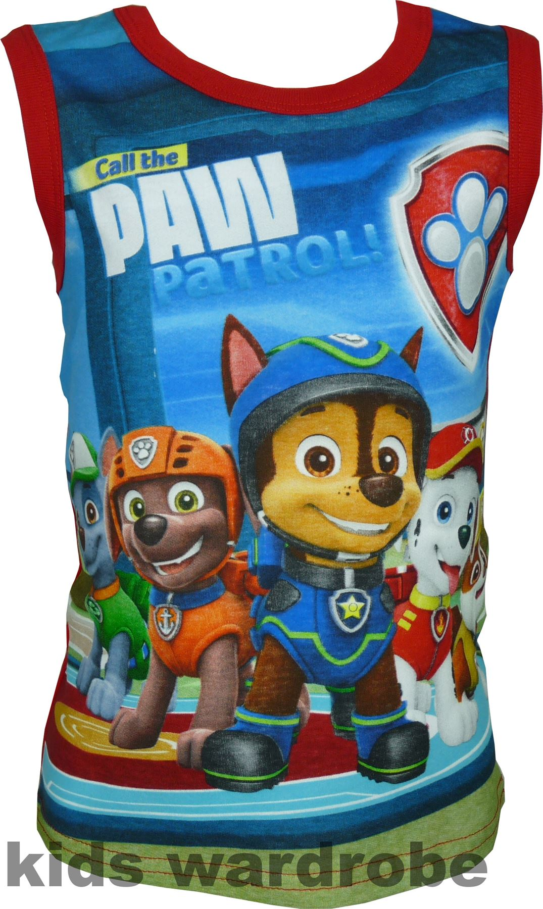 Garcons-Paw-Patrol-Debardeur-T-shirt-sans-manches-Taille-3-6-ans