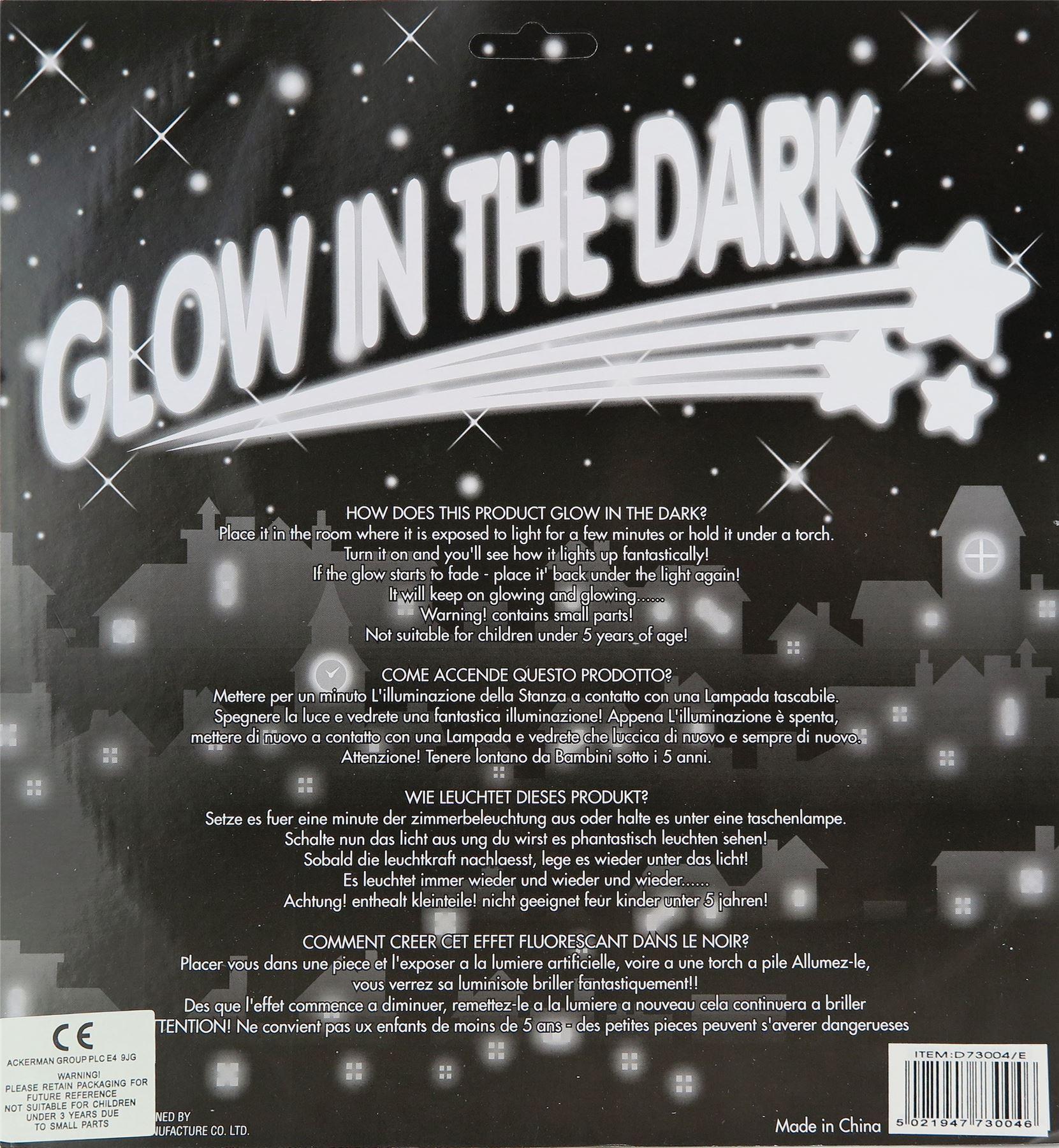 Glow In The Dark Moon Wall Stickers For Kids/Children\'s Bedroom ...